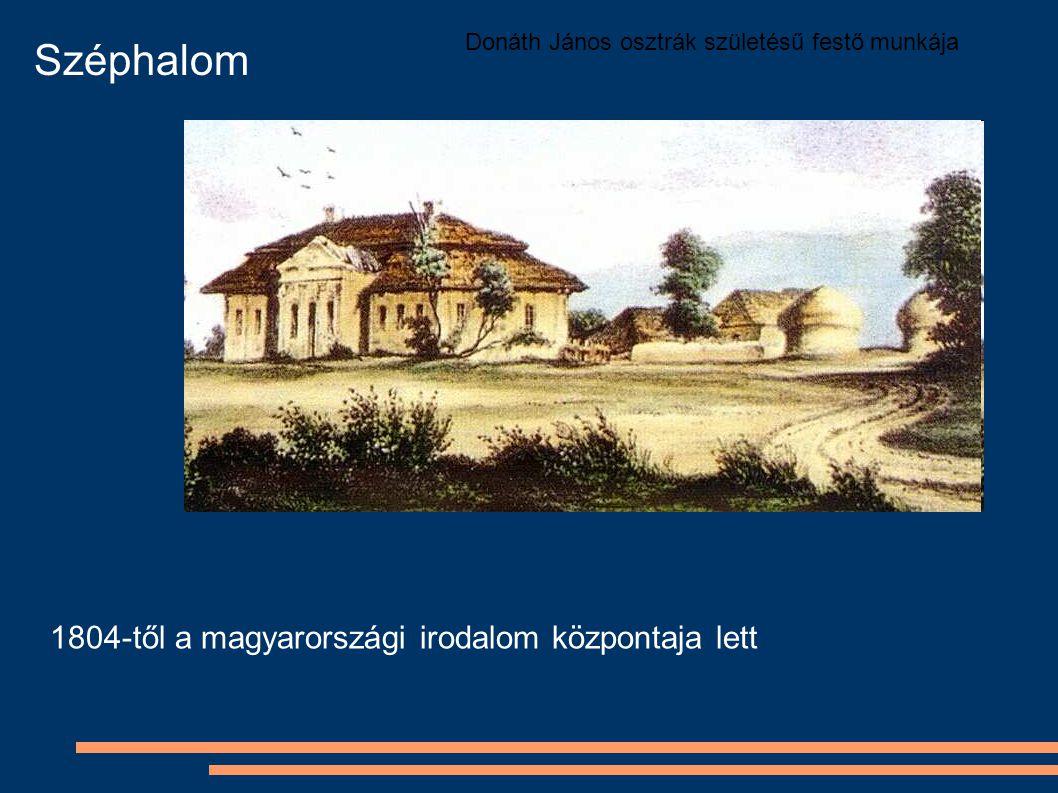 Donáth János osztrák születésű festő munkája Széphalom 1804-től a magyarországi irodalom központaja lett