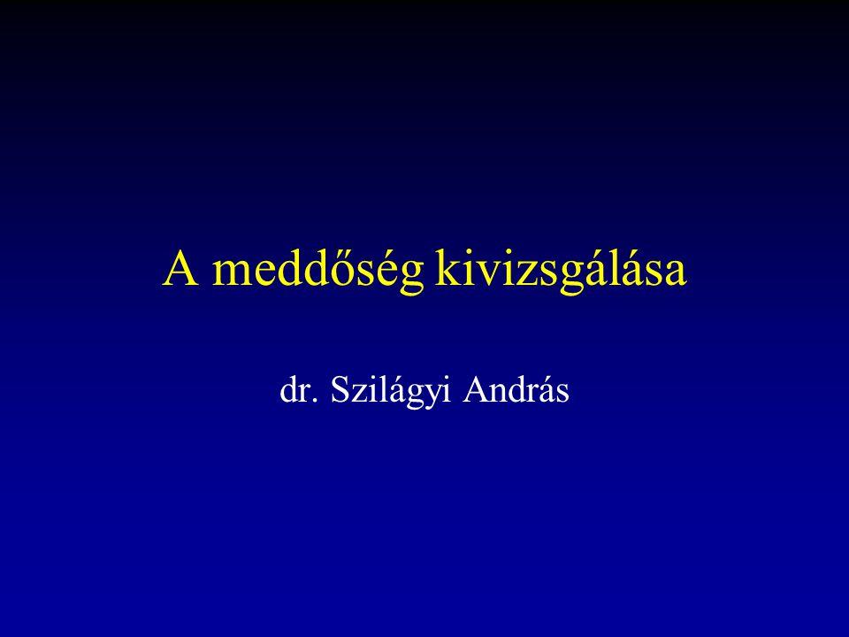A meddőség kivizsgálása dr. Szilágyi András