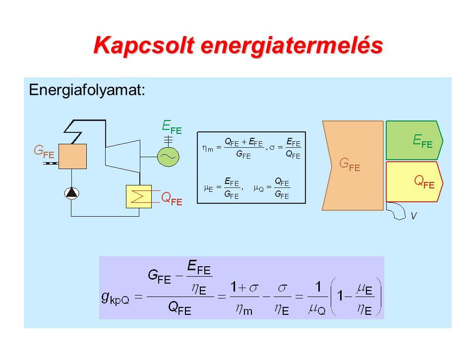 Kapcsolt energiatermelés Energiafolyamat: