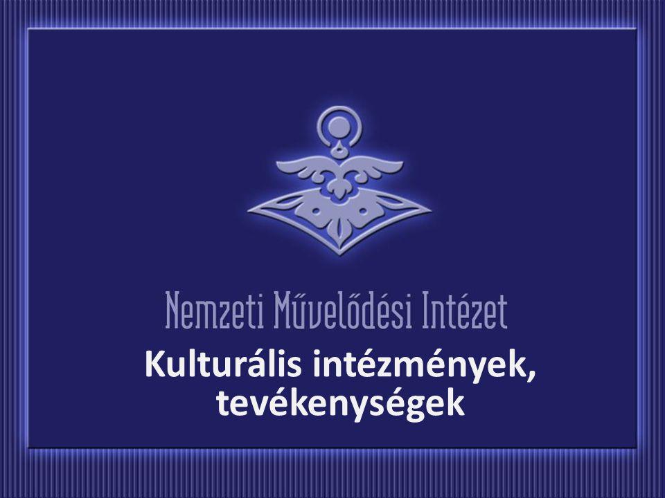 Kulturális intézmények, tevékenységek