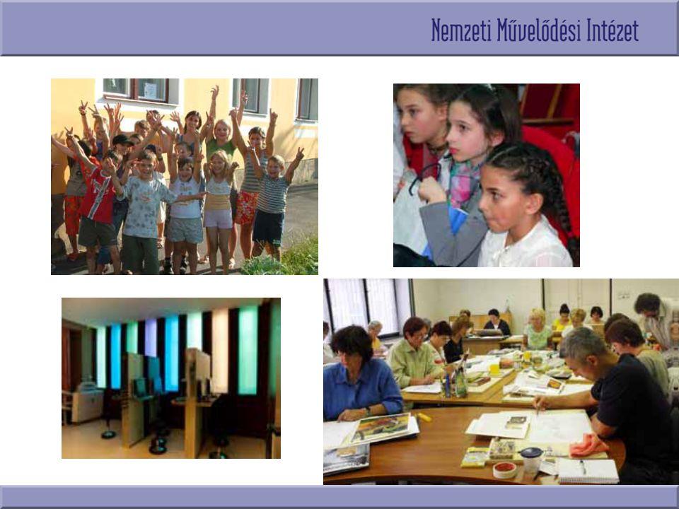 A Nemzeti Művelődési Intézet Az Emberi Erőforrások Minisztere alapította Részt vesz a közművelődési szakterület kormányzati és minisztériumi szintű stratégiai, fejlesztési terveinek előkészítésében Szakmai innovációkat, közösségi együttműködéseket kezdeményez, támogat Területi közművelődési feladatot lát el