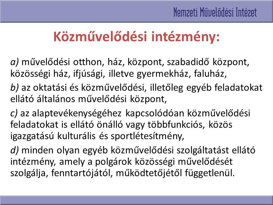 Kulturális törvényi háttér 1997.évi CXL törvény 150/1992.