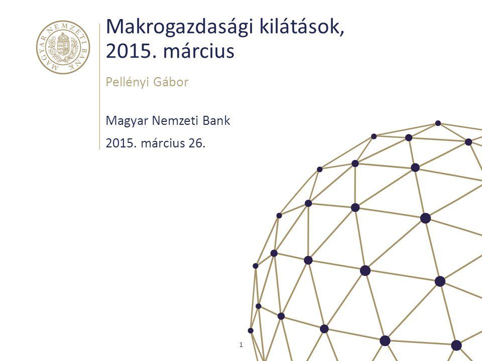 A cserearány javulása a GDP deflátor magas növekedéséhez is hozzájárult Magyar Nemzeti Bank 12 Forrás: KSH, MNB számítás A GDP deflátor, a fogyasztás deflátor és a cserearány változása