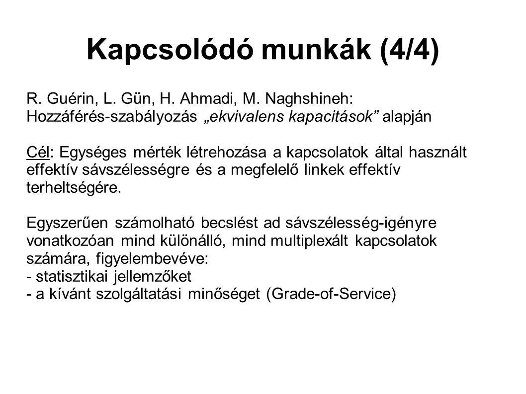 Kapcsolódó munkák (4/4) R.Guérin, L. Gün, H. Ahmadi, M.