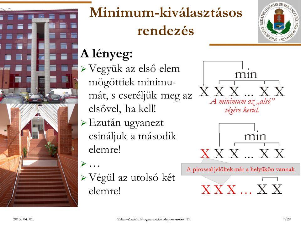ELTE Szlávi-Zsakó: Programozási alapismeretek 11.7/292015.