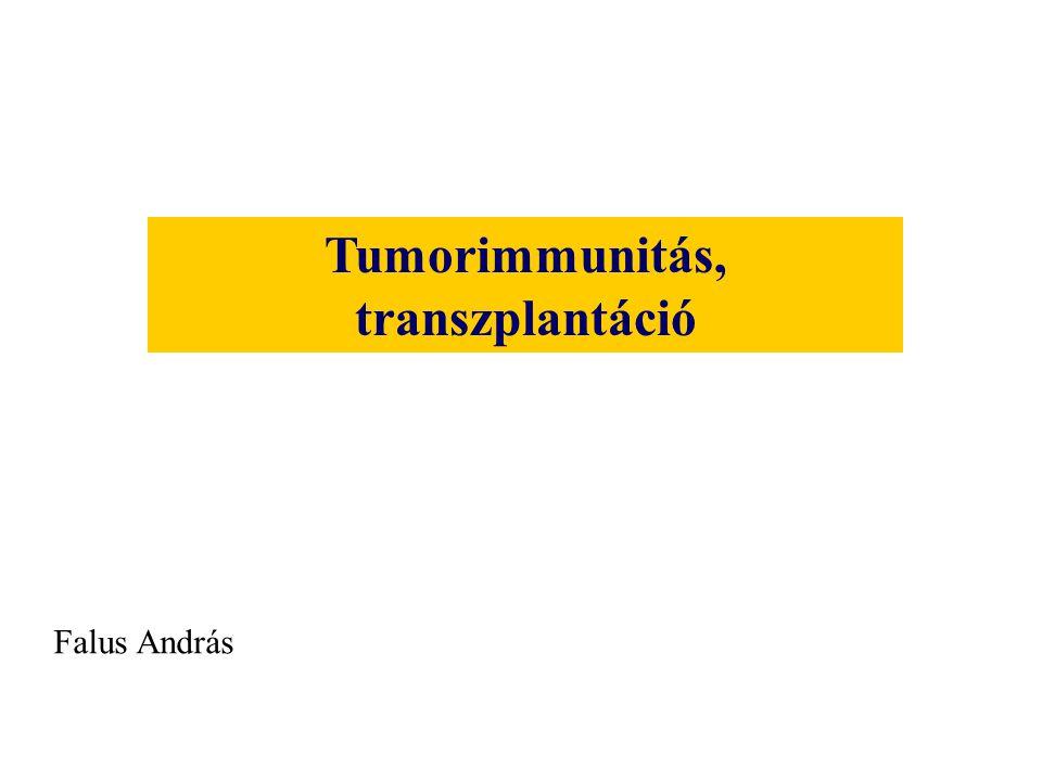 Tumorimmunitás, transzplantáció Falus András