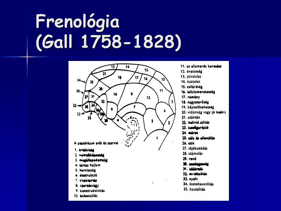 Frenológia (Gall 1758-1828)