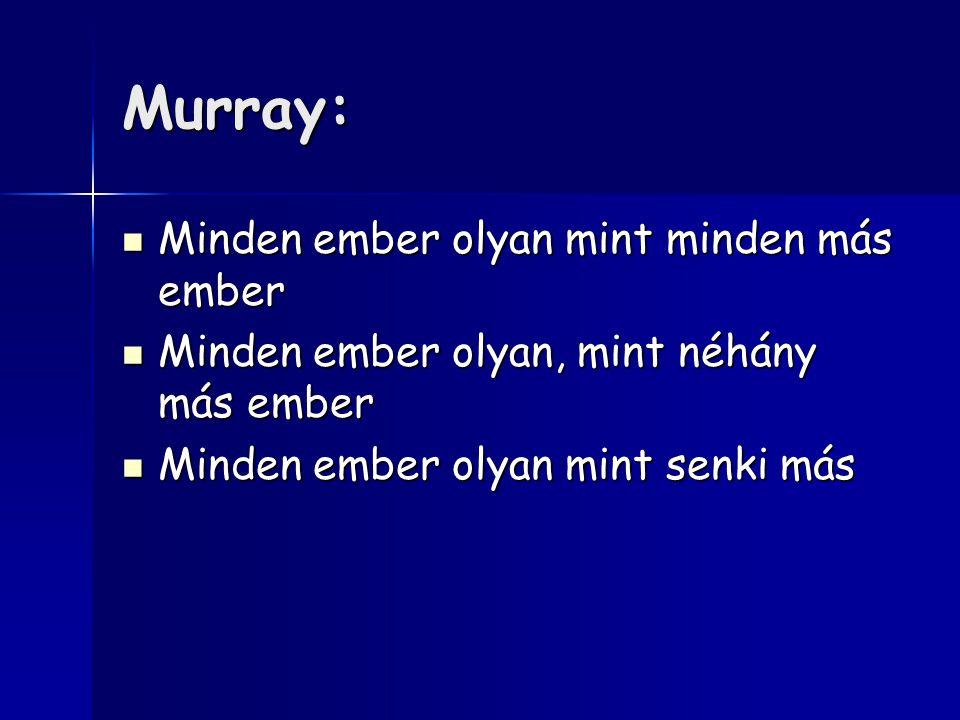 Murray: Minden ember olyan mint minden más ember Minden ember olyan mint minden más ember Minden ember olyan, mint néhány más ember Minden ember olyan