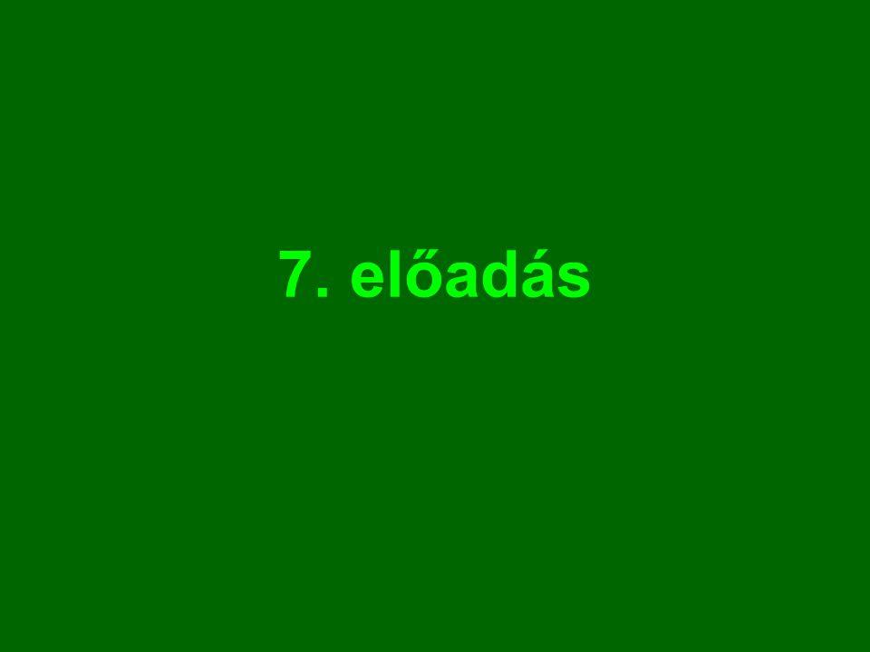 7. előadás