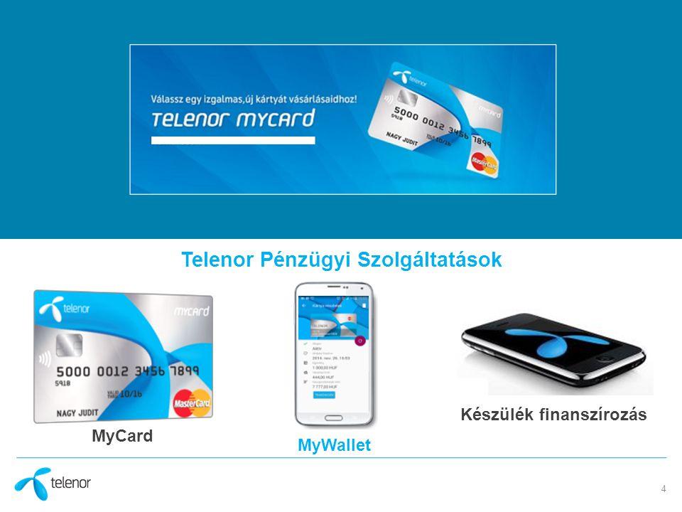 4 Telenor Pénzügyi Szolgáltatások MyCard MyWallet Készülék finanszírozás