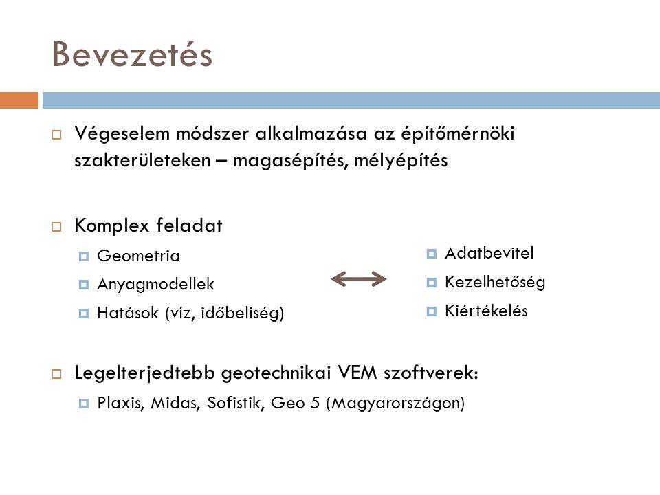 A VEM alapelve (ismétlés)  A talajt és szerkezeteket folytonos közeg helyett véges számú felülettel, vagy térelemmel modellezzük.