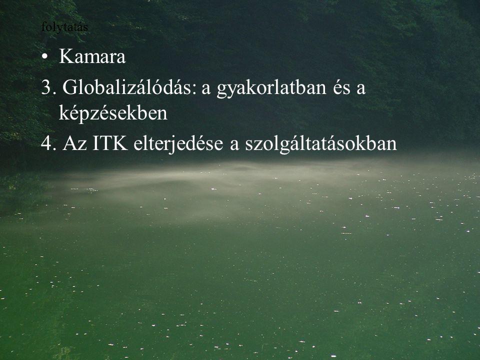 folytatás Kamara 3.Globalizálódás: a gyakorlatban és a képzésekben 4.