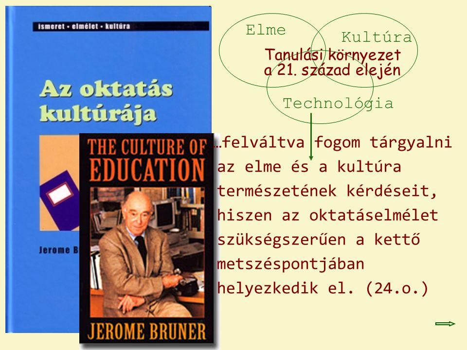 …felváltva fogom tárgyalni az elme és a kultúra természetének kérdéseit, hiszen az oktatáselmélet szükségszerűen a kettő metszéspontjában helyezkedik