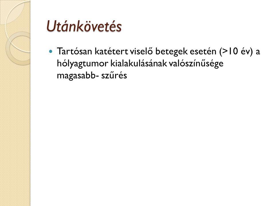 A felső húgyúti obstrukció Okai: ◦ Szűkület (infekció, trauma) ◦ Kő (húgyvezeték, vesemedence) ◦ Húgyhólyag (kő, idegentest, tumor, megvastagodott húgyhólyagfal) ◦ Trauma vagy tumor (cervix, sigma, colon, prosztata…) ◦ Műtét a húgyvezeték környezetében (sebészet, nőgyógyászat, transzplantológia) ◦ Vese (tumor vagy cysta) BPH: benignus prosztata hiperplázia