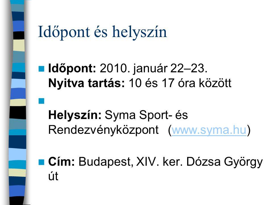 Időpont és helyszín Időpont: 2010. január 22–23.