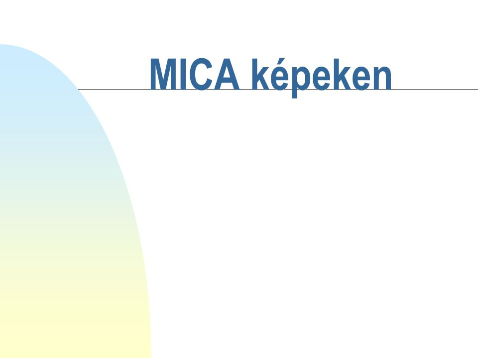 MICA 1.kísérlet Vettünk 6 db 50x50 pixeles képet.