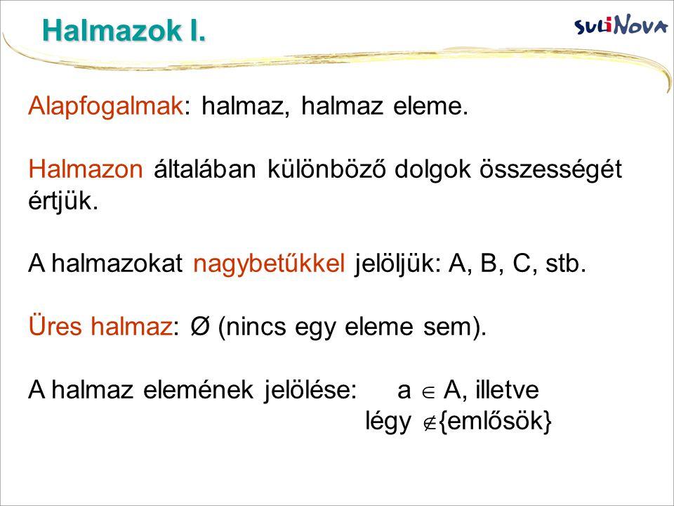 Halmazok II.