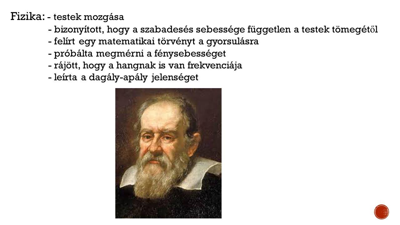  A mikroszkóp és a teleszkóp (Galilei)  Mechanikus számológép építése (Pascal)  Az ingaóra feltalálása  A barométer, a g ő zkukta és az els ő g ő zgép feltalálása  Az ágyú és a l ő por technológiájának fejl ő dése  A fénysebesség els ő megmérése 1676  Németalföldön forgalomba kerül az els ő csekk