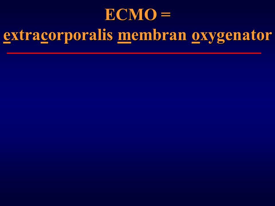 ECMO = extracorporalis membran oxygenator