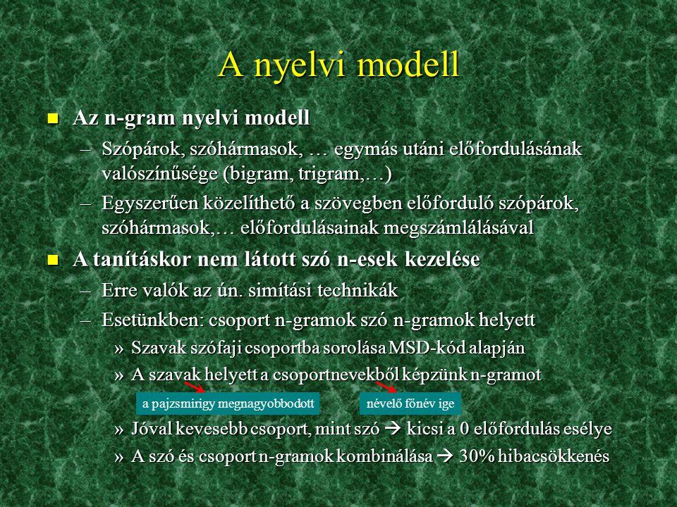 """A leletanyag 2. n Példa: az """"aspirációs"""" szó előforduló alakjai n Egységesítés után megmaradó szavak száma: ~ 2500 –Ezek szóalakok, azaz minden toldal"""