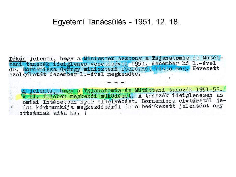 Egyetemi Tanácsülés - 1951. 12. 18.