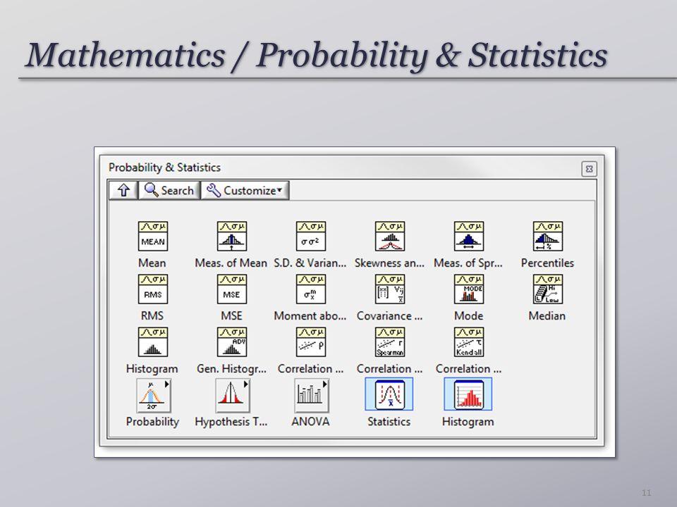 Mathematics / Probability & Statistics 11