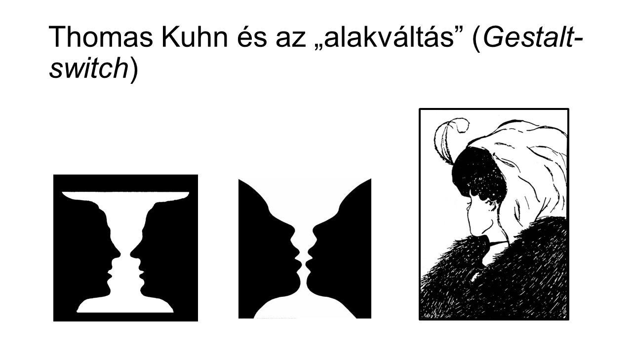 """Thomas Kuhn és az """"alakváltás"""" (Gestalt- switch)"""