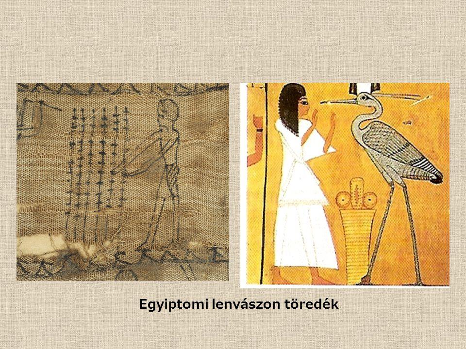Egyiptomi lenvászon töredék