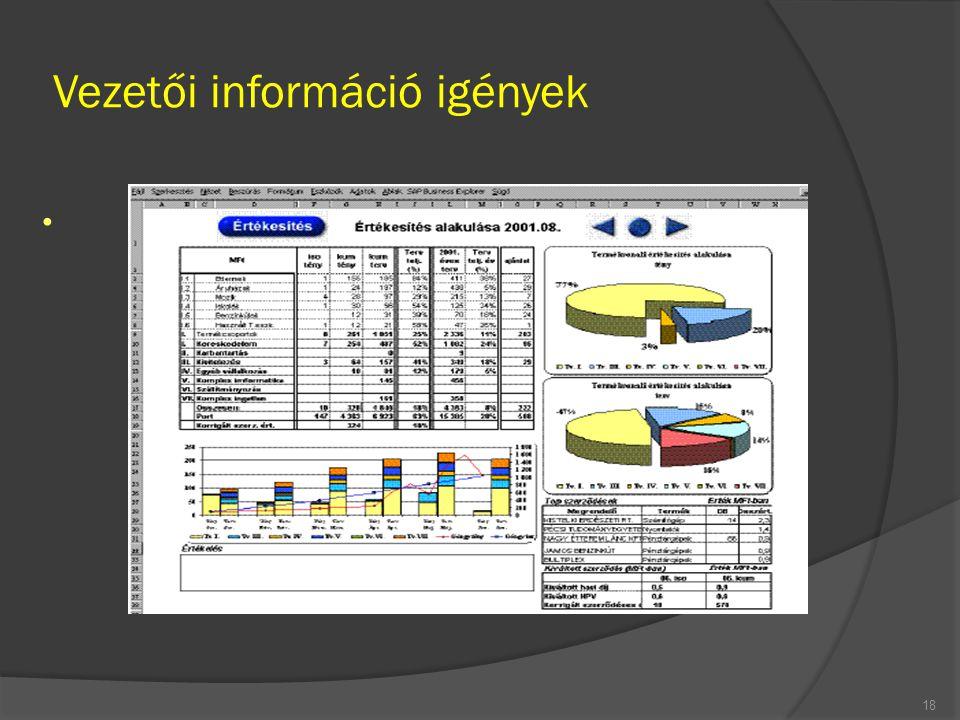 Vezetői információ igények 18
