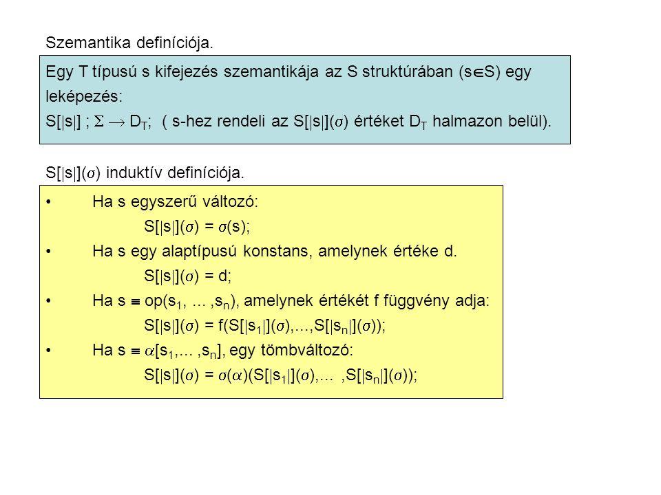 Szemantika definíciója.