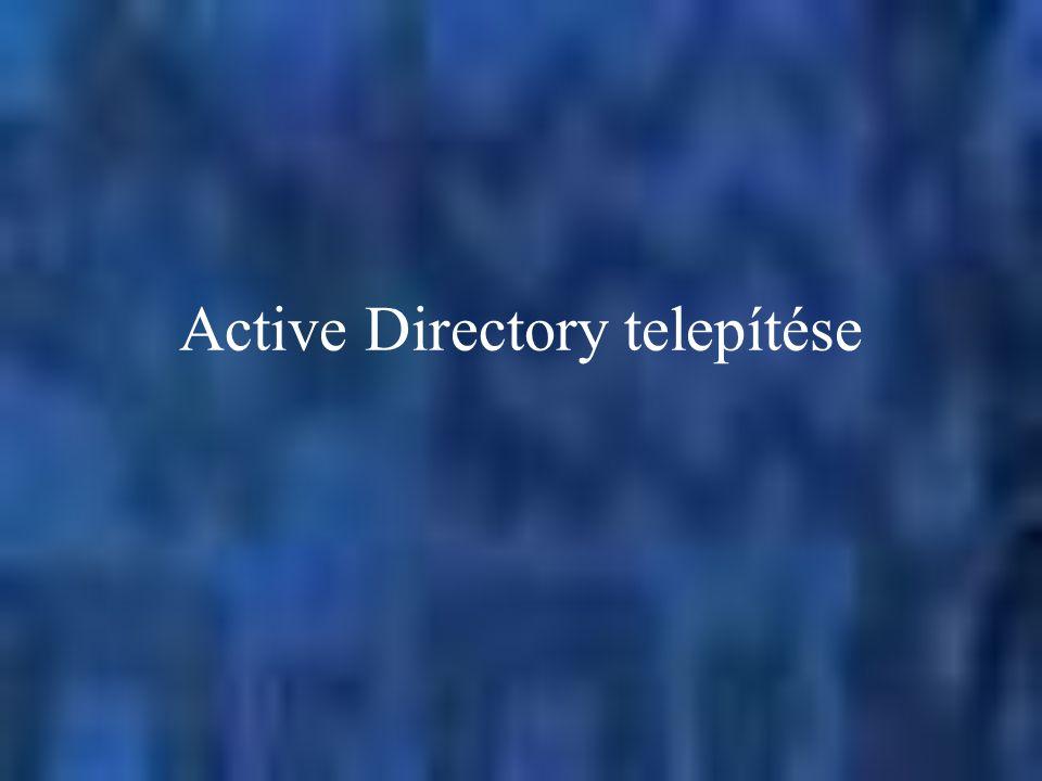 Active Directory telepítése