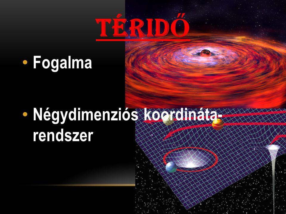 TÉRID Ő Fogalma Négydimenziós koordináta- rendszer