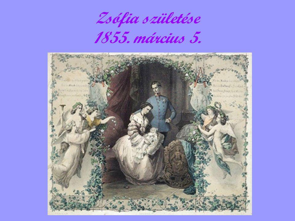 Zsófia születése 1855. március 5.