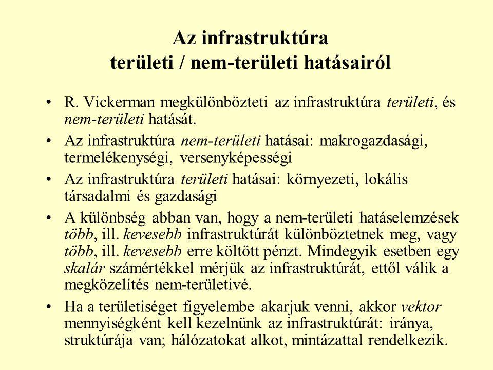 Az infrastruktúra területi / nem-területi hatásairól R.