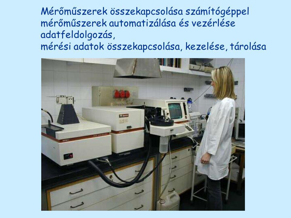 Mérőműszerek összekapcsolása számítógéppel mérőműszerek automatizálása és vezérlése adatfeldolgozás, mérési adatok összekapcsolása, kezelése, tárolása
