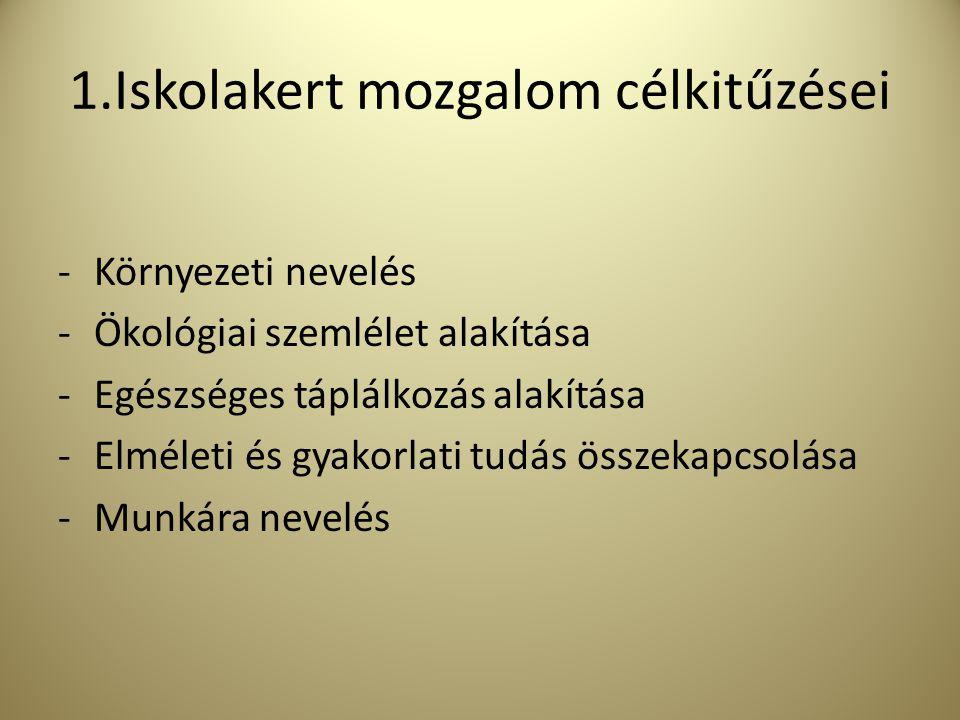 2.Iskolakert típusok Vidéki települések Lakótelepi iskolák Elmaradott falusi térségek Ezen település típusokban más és más speciális szempontok adódnak az általános célkitűzéseken túl.