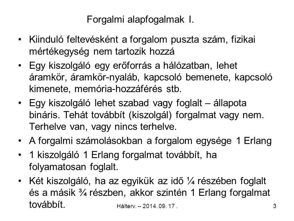 Hálterv.-- 2014. 09. 17. 64 Erlang – M/M/n 13.
