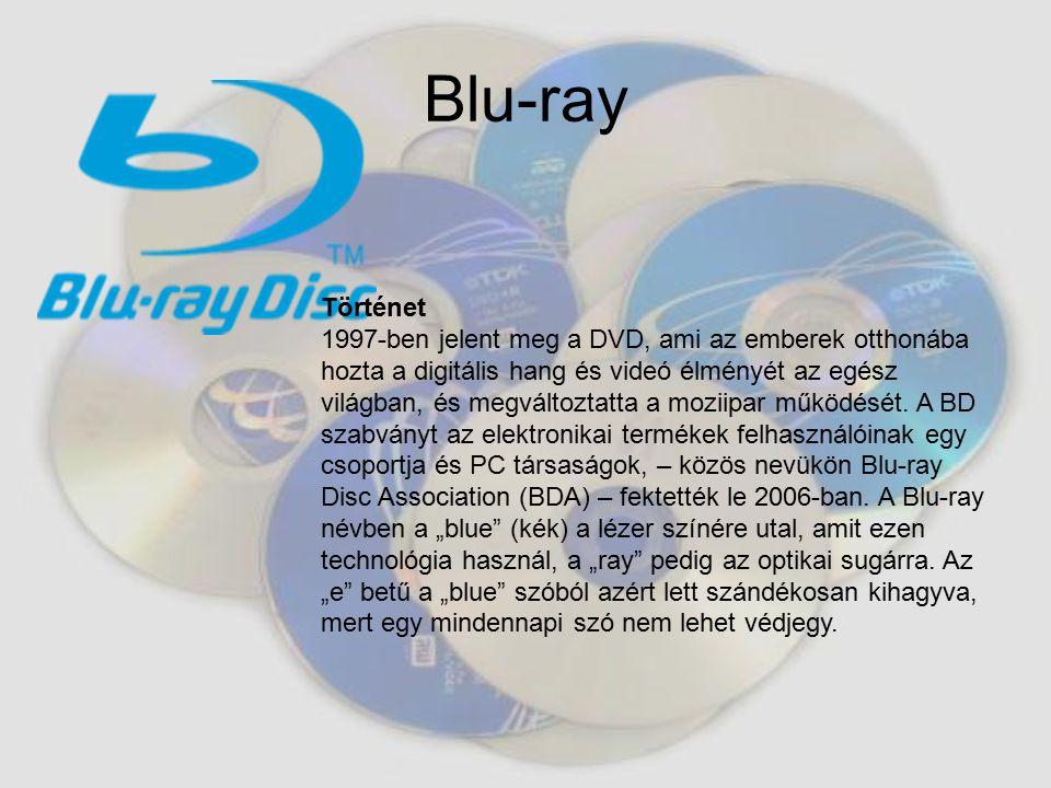 Blu-ray Történet 1997-ben jelent meg a DVD, ami az emberek otthonába hozta a digitális hang és videó élményét az egész világban, és megváltoztatta a moziipar működését.