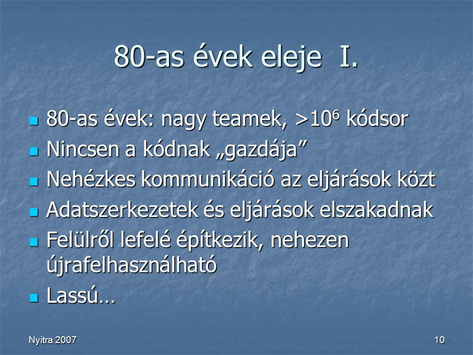 Nyitra 200710 80-as évek eleje I.