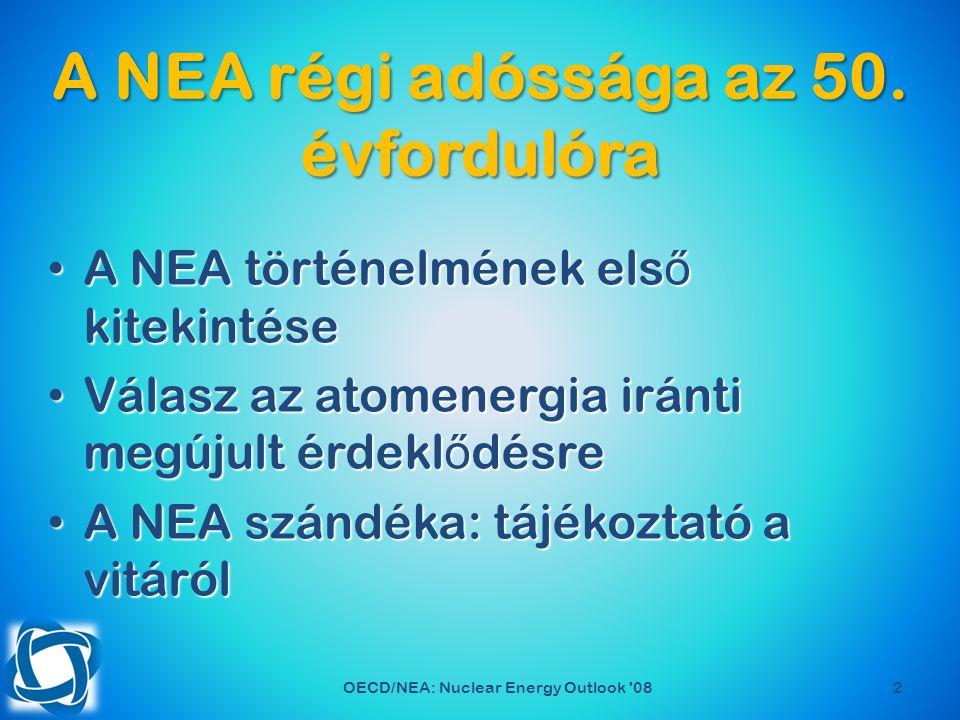 Köszönöm a megtisztel ő figyelmüket és a szíves meghívást! OECD/NEA: Nuclear Energy Outlook 08