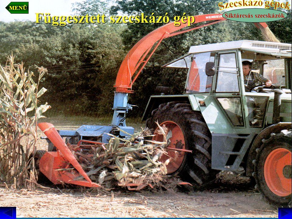 Függesztett szecskázó gép Síktárcsás szecskázók MENÜ