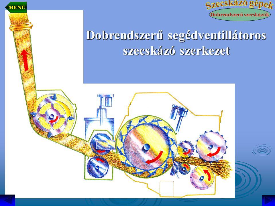 Dobrendszerű segédventillátoros szecskázó szerkezet Dobrendszerű szecskázók MENÜ