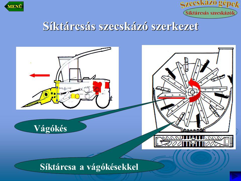 Síktárcsás szecskázó szerkezet Síktárcsás szecskázók MENÜ Vágókés Síktárcsa a vágókésekkel