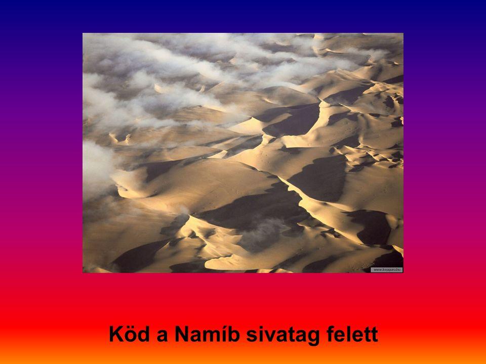 Köd a Namíb sivatag felett
