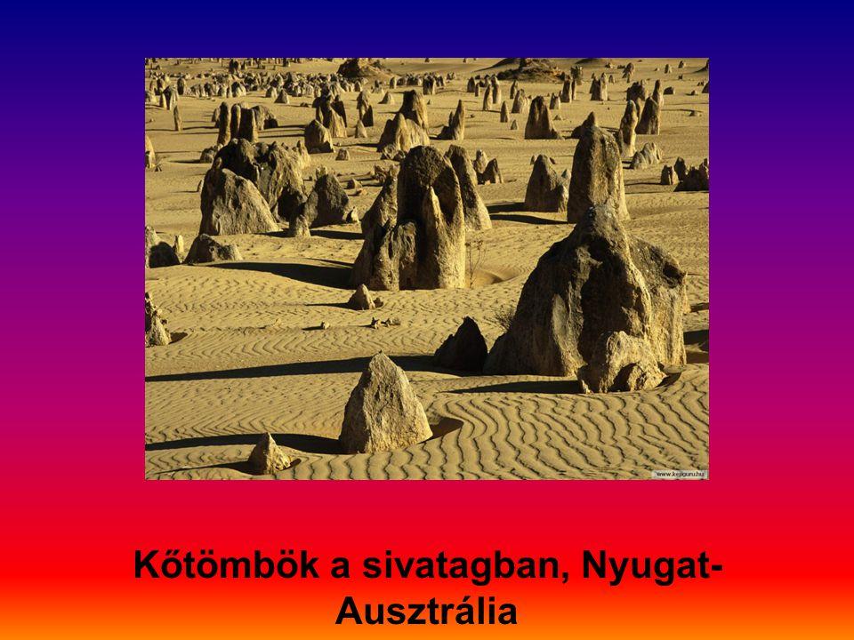 Kőtömbök a sivatagban, Nyugat- Ausztrália