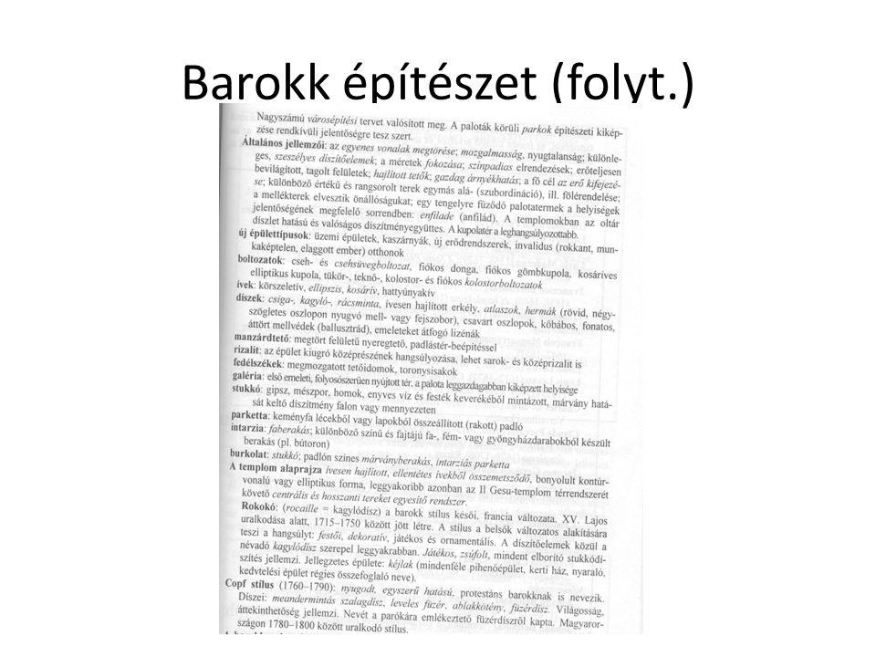 Barokk építészet (folyt.)