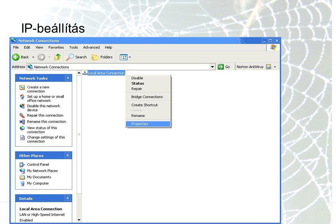 IP-beállítás
