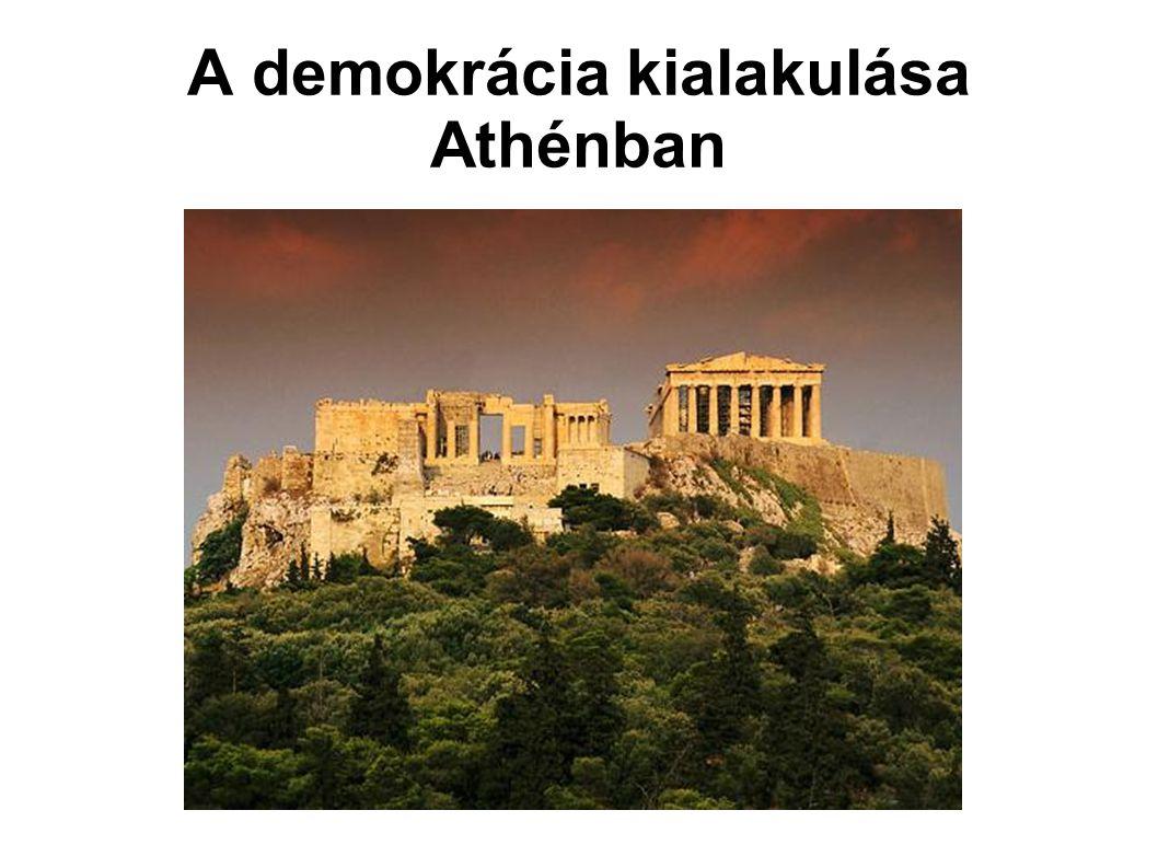 A demokrácia kialakulása Athénban