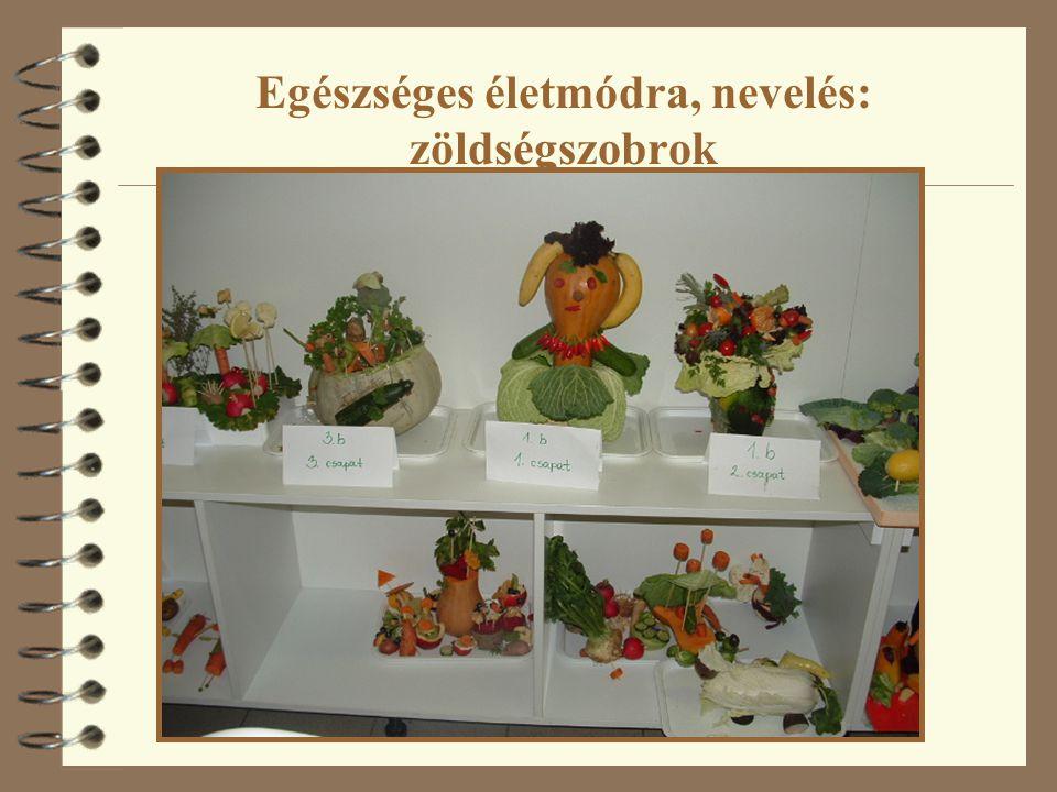 Egészséges életmódra, nevelés: zöldségszobrok