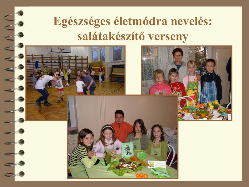 Egészséges életmódra nevelés: salátakészítő verseny